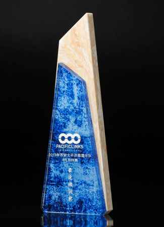 北京蓝水晶奖杯生产销售
